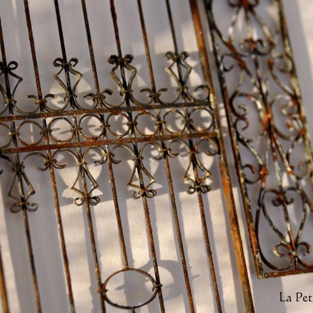 #miniaturefence #vintagefence #weathering #soldering #brass #サビ加工 #エイジング加工 #サビ塗装