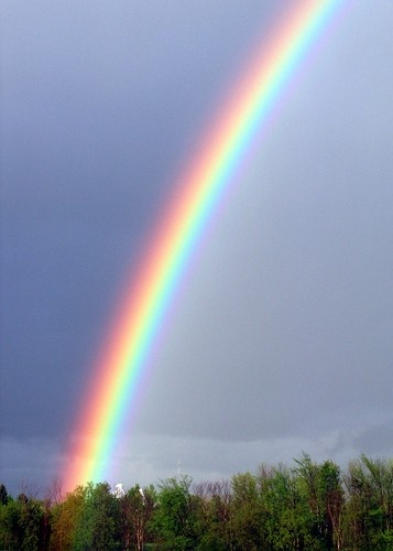 I love rainbows...they are simply amazing. They always seem to appear at important moments in my life.