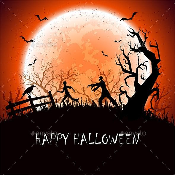 Halloween Background With Zombie Ad Halloween Ad Background Zombie Halloween Backgrounds Halloween Images Halloween Party Decor Diy