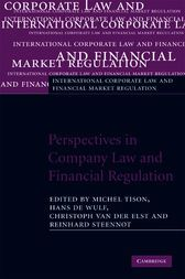 Be sure to read this  Perspectives in Company Law and Financial Regulation - http://www.buypdfbooks.com/shop/uncategorized/perspectives-in-company-law-and-financial-regulation-2/