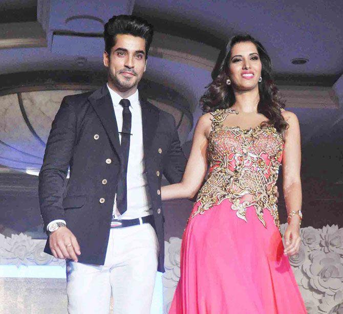 Gautam Gulati and Manasvi Mamgai walk the ramp at a fashion show organised by 'Beti', an NGO. #Bollywood #Fashion #Style #Beauty