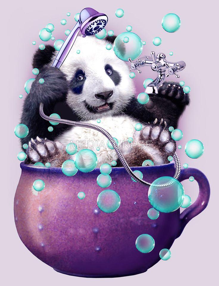 Поздравление, открытки мишка панда