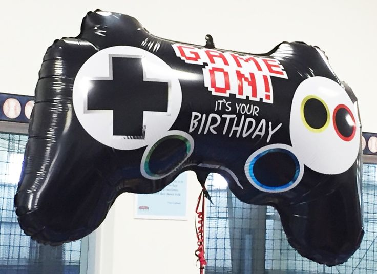"""Jumbo mylar balloons always make a great impression in the party room and this video game controller is no exception.  I purchased two of these 36"""" balloons for my son's Xbox theme birthday celebration."""