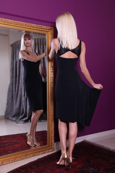 Tango Dress with Right Side Draping | Tango Clothing - conDiva     #tangodress #womens #argentinetango #milonga #milonguera #tangoclothes #dancewithcondiva #sexy #dancedress  #modern