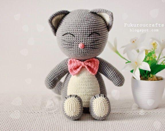 fukuroucrafts: Cute Crochet Pattern Cat Doll, Cute Amigurumi Patt...