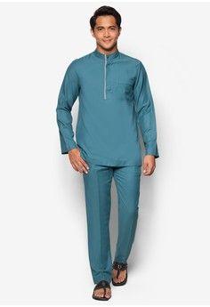 Jovian Men Qaseem Baju Melayu from Jovian in blue_1