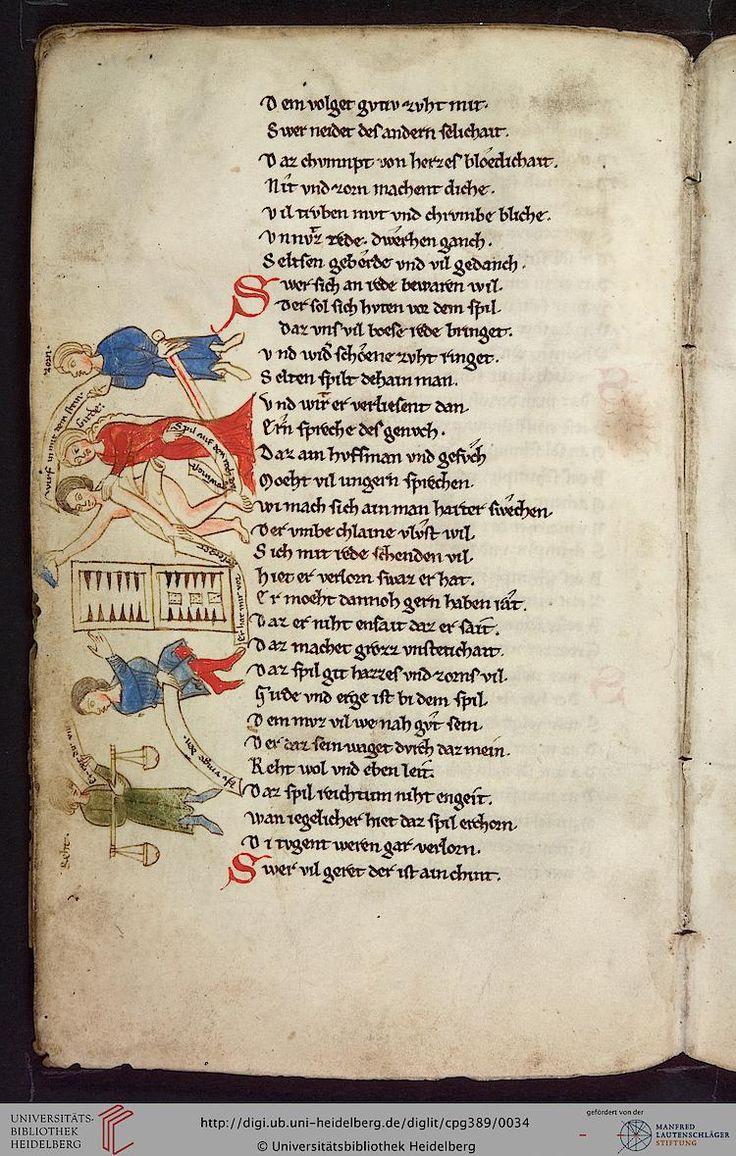 Cod. Pal. germ. 389 Thomasin <Circlaere>   Welscher Gast (A) — Bayern (Regensburg?), um 1256  Seite: 11v Zitierlink: i http://digi.ub.uni-heidelberg.de/diglit/cpg389/0034?template=wgd