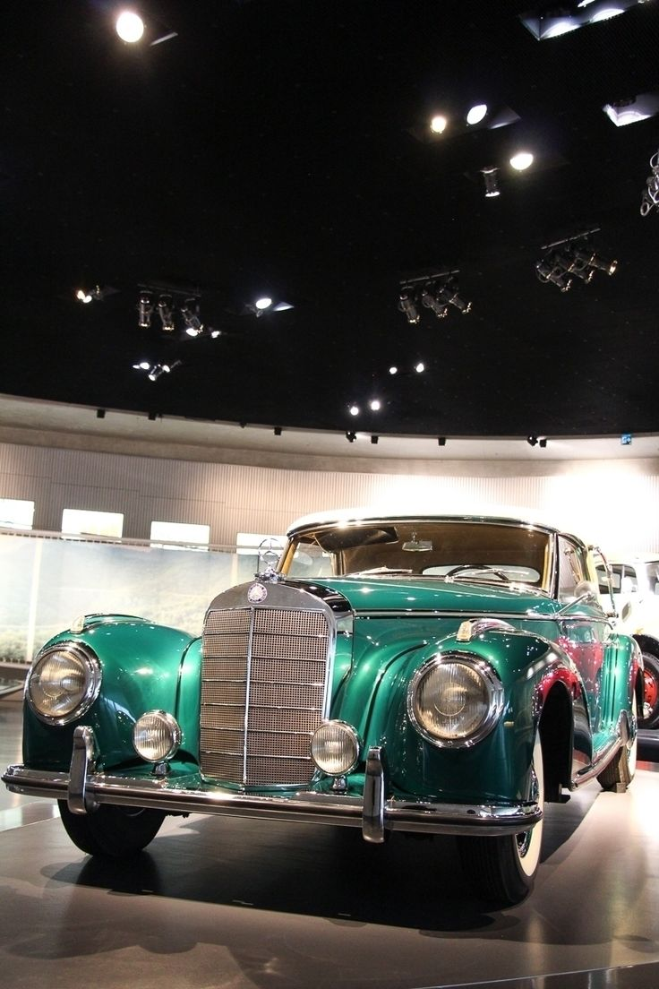 Falling in love? Do you like the color? Do you love the #car? This is an 1954 #Mercedes 300S Cabriolet A. The two-door convertible  was based on the Mercedes 300 but was fittet with an even powerful engine. Some facts? 183 cu in displacement, 108 mph top speed, 6 cylinder. You will find this wonderful car in our #Mercedes #Museum #Stuttgart #MBCar Photo by @JensStratmann