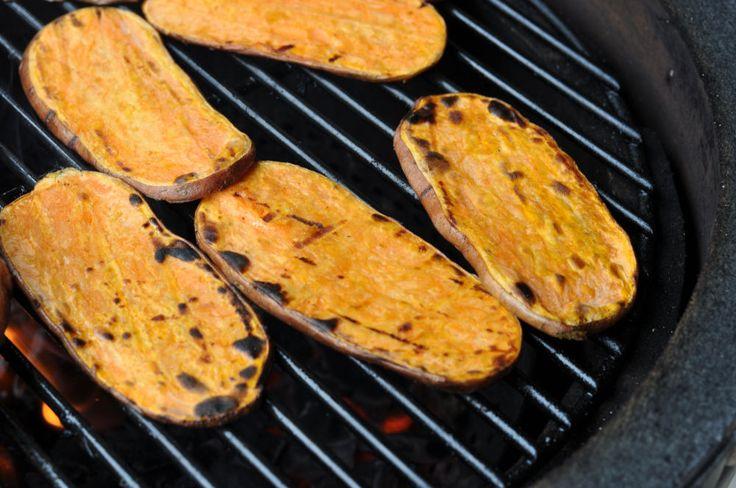 Gegrillte Süsskartoffeln Gegrillte Süßkartoffeln mit Olivenöl-Limetten-Marinade-Gegrillte Süßkartoffeln-GegrillteSuesskartoffeln03