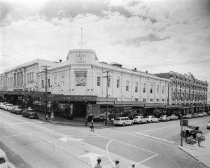 Cribb & Foote Department Store, corner Brisbane and Bell Streets, Ipswich, 1959 / corner Brisbane and Bell Streets, Ipswich, 1959 www.picture.ipswich.qld.gov.au | thefashionarchives.org
