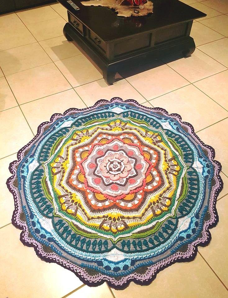 754 besten Crochet Mandala Bilder auf Pinterest | Stricken häkeln ...