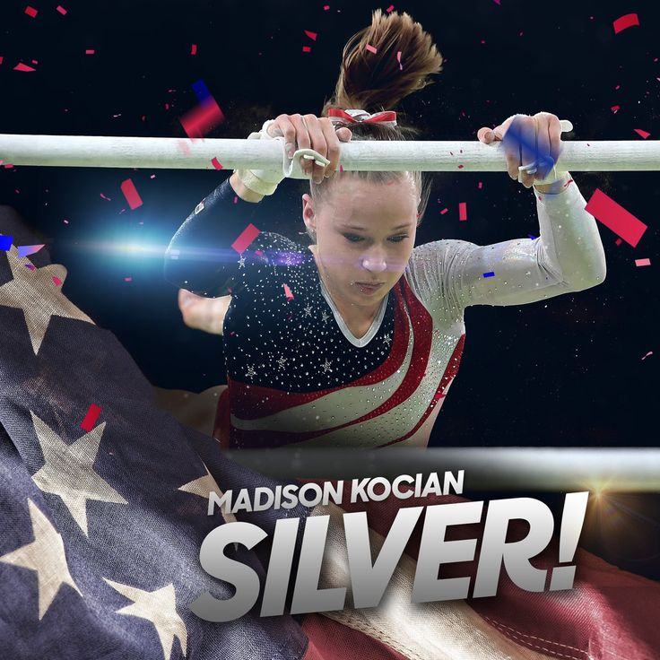 NBC Olympics ‏@NBCOlympics  21h21 hours ago Another one for @USAGym!  @MadisonKocian wins #Silver on the Uneven Bars!
