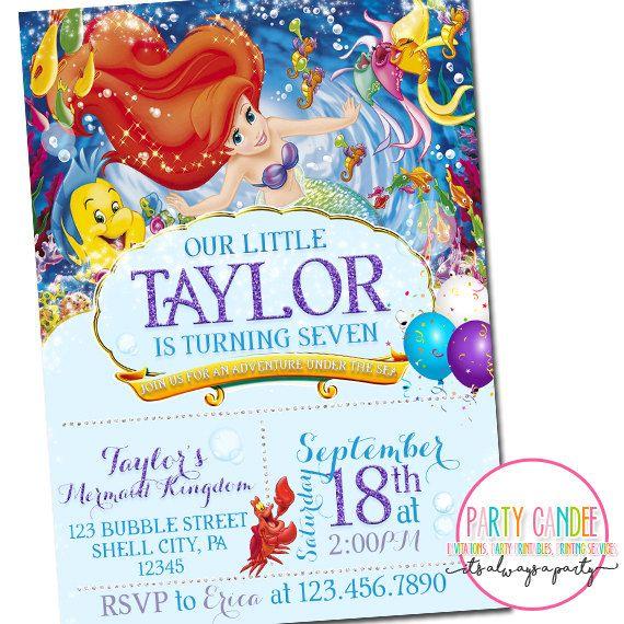 3d1f12a085627460970eab5988f3b786 ariel invitations little mermaid birthday invitations best 25 little mermaid invitations ideas on pinterest,Little Mermaid Birthday Invitations