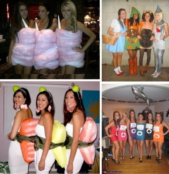 adult costumes  Cotton Candy; Wizard of Oz; Sushi; iPod Mini