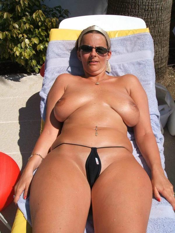 wife micro bikini black fuck