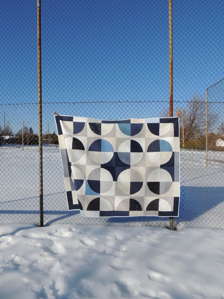 "ecoslo: ""Winter Polarity Quilt - Finished! Another quilt done! I finished up this Winter version of my Polarity quilt pattern in time to bring it as a sample for the class I'm teaching this weekend at..."
