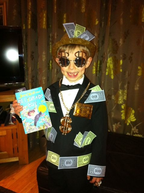 Billionaire Boy! costume for World Book Day