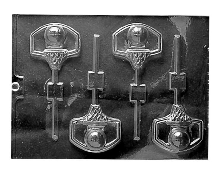 Basketball and Net Lollipop Chocolate Mold... I would so love these