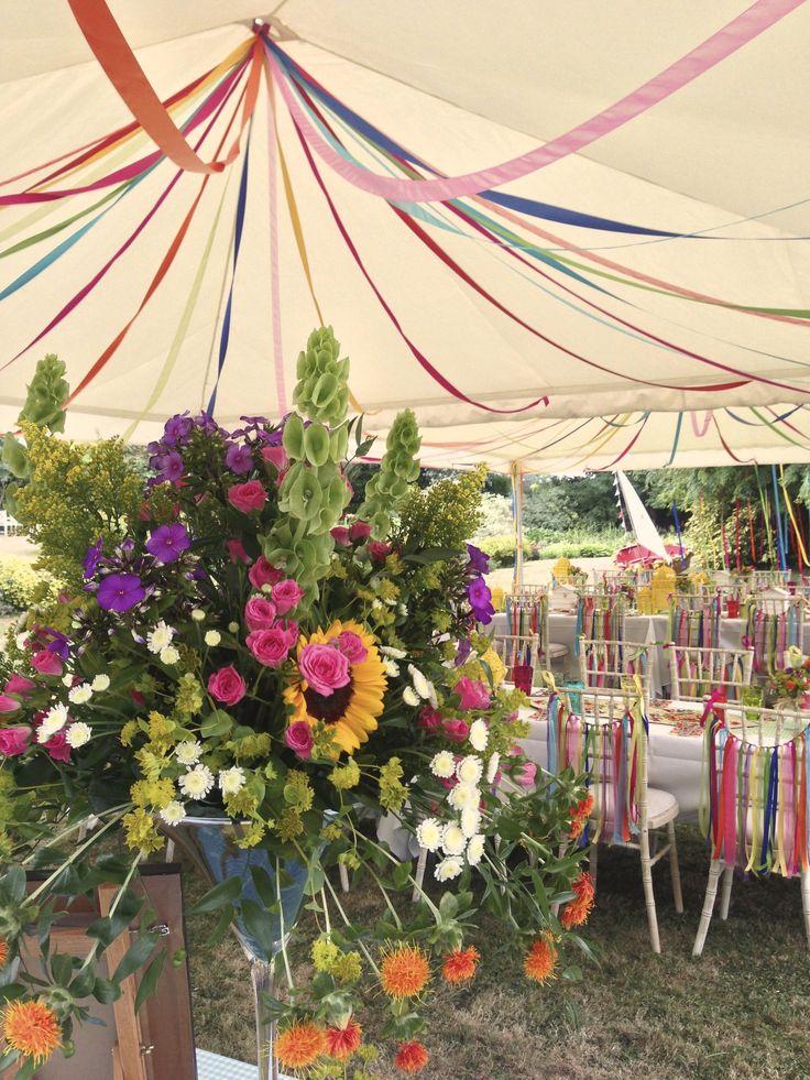 Gorgeous Lush Floral Arrangements Maypole Ribbons