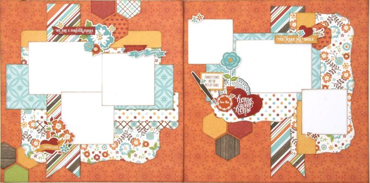 Family two page scrapbook layout designed using the I Love Family collection from Echo Park.