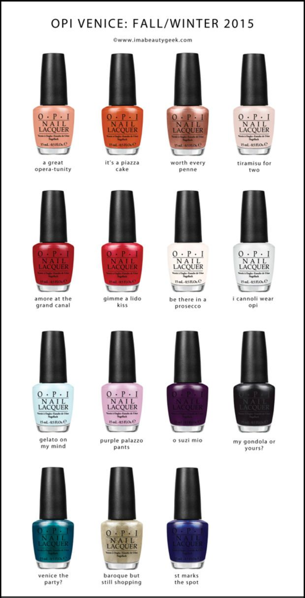 OPI Venice Collection F/W 2015 ©imabeautygeek.com
