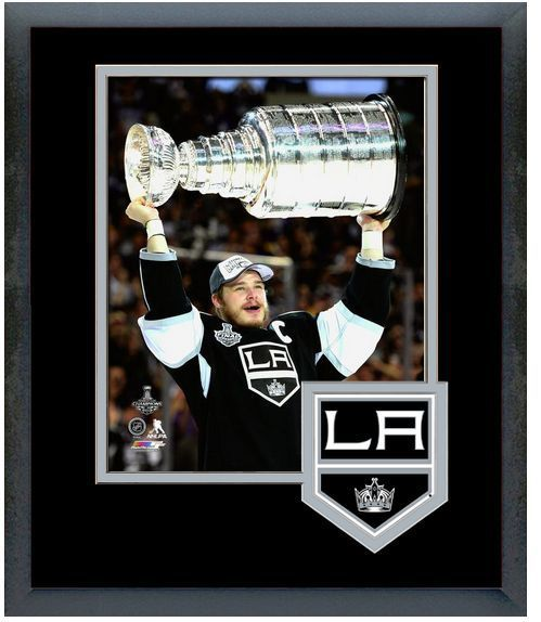 Dustin Brown with the Stanley Cup® After Game 5 - 2014 Stanley Cup® Finals