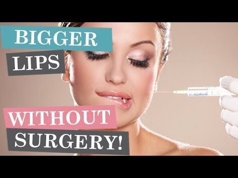 How To Get Bigger Lips Without Filler!