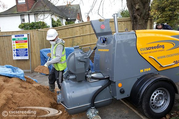 Brand new CSC pump turns up for the HomeScreed™ project.