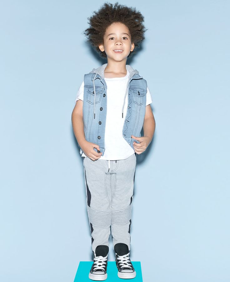 Little Boy's Knit Denim Vest - Bardot Junior