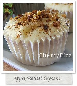 Appel/kaneel-cupcakes: spreek uit ervaring als ik zeg dat ze goddelijk zijn!