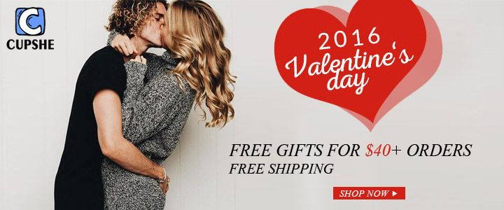 Cupshe Coupons for Valentine Day - http://bit.ly/cupshecouponstore
