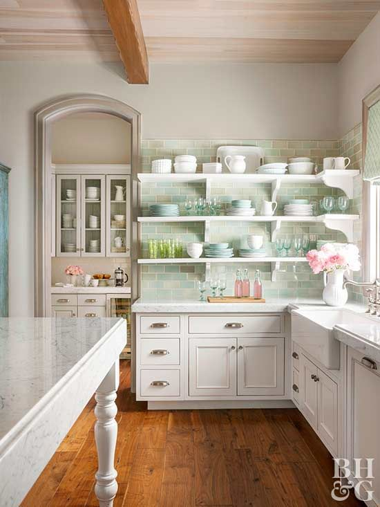 Cottage kitchens are the hallmark of comfort. Transform your kitchen into a more inviting, laid-back space with these 15 ideas. #cottagekitchen #cottagestyle #kitchen