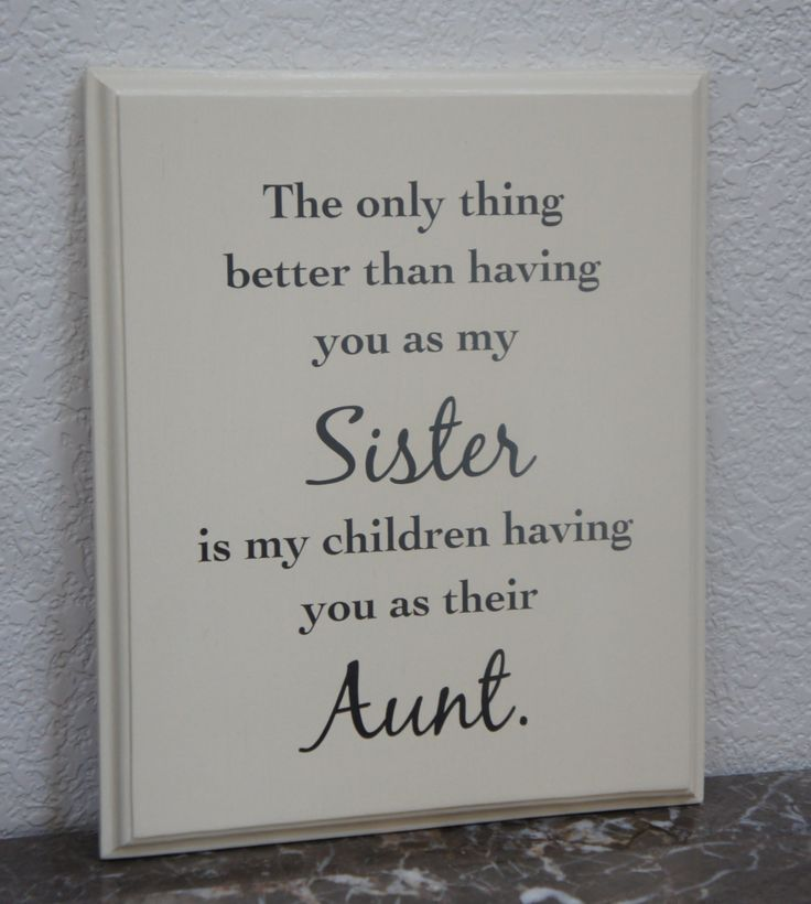 Sister Plaque The only thing better than having by Frameyourstory