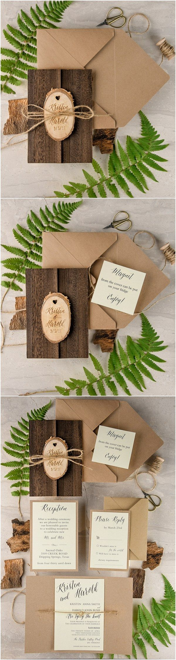 Rustic country wedding invitations #rusticweddingideas