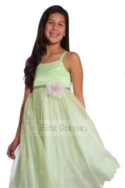 Girls Mint Satin Bodice and Tulle Skirt Ballerina Dress