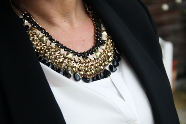 ZARA statement necklace | Lady of Style