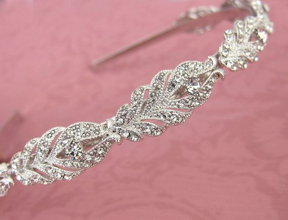 Hey, I found this really awesome Etsy listing at https://www.etsy.com/listing/232115213/vintage-style-thin-wedding-headband-gold