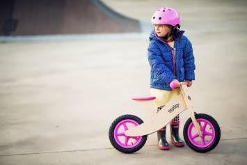 Drewniany rowerek biegowy Tuptup PINKY