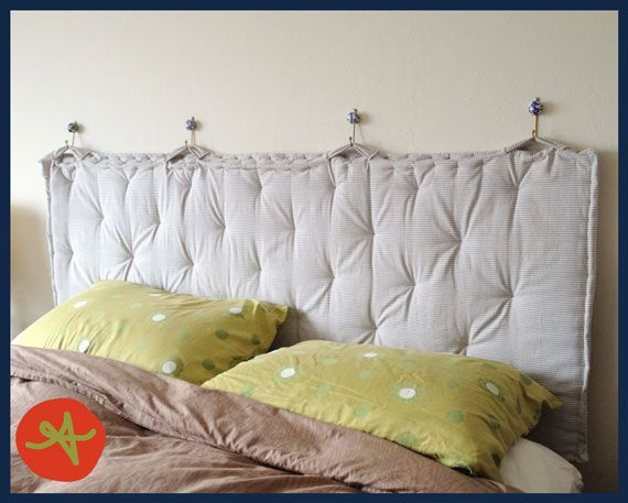 pillow headboards | Aha! I have completed my first major Pinterest project. Customized to ...