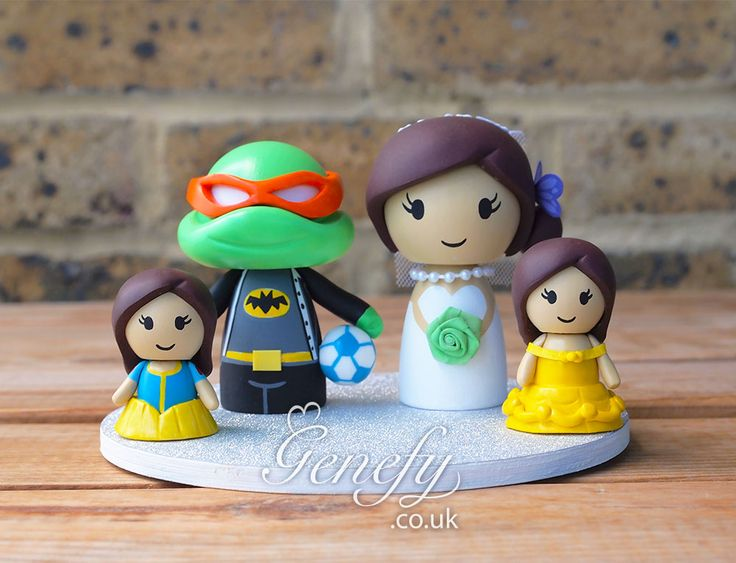 16 best Cute TMNT Ninja Turtle Wedding Cake Topper by ...