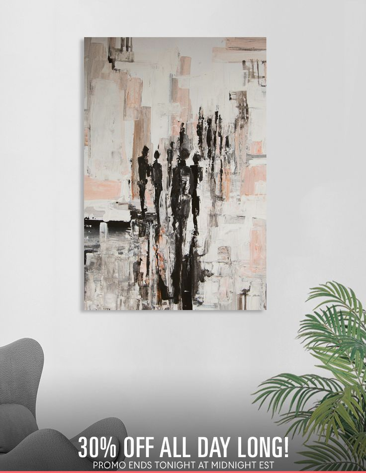 """Discover «""""Lost in the crowd""""», Exclusive Edition Canvas Print by Bianca  Paraschiv Art - From $59 - Curioos"""