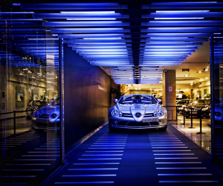 While walking along the Champs-Élysées in Paris, I came across this really slick Mercedes dealership. I don't even want to think about what the lease for this space is… but it is super cool. - Paris, France - Photo from #treyratcliff Trey Ratcliff at http://www.stuckincustoms.com/