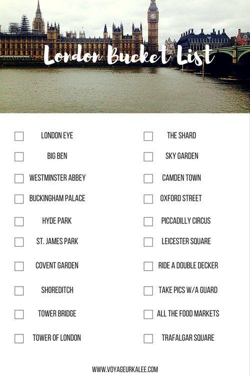 The Ultimate London Bucket List | Voyageur Kalee