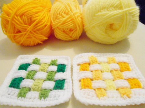 Weave Square - Free Crochet Pattern