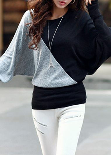 Long Sleeve Round Neck Color Block T Shirt on sale only US$24.01 now, buy cheap Long Sleeve Round Neck Color Block T Shirt at lulugal.com