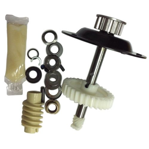 Liftmaster Chamberlain Gear and Sprocket Kit for Belt Drive models. 41A4885-2    Liftmaster-Sears Gear and Sprocket Kit is replacement gear and sprocket for Liftmaster and Chamberlain models 1270, 1280 BELT drive openers.    Includes:   Sprocket drive shaft  Shaft housing  Main drive gear  Worm gear  Limit switch gear and clip  Lubricant  Replacement bushing, fittings, & pins  Instructions    Compatible With:  Belt drive Chamberlain and Liftmaster garage door openers models 1270 and 1280