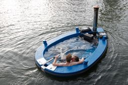 HotTug- A Wood-Fired Hot Tub Boat - who thinks this stuff up?