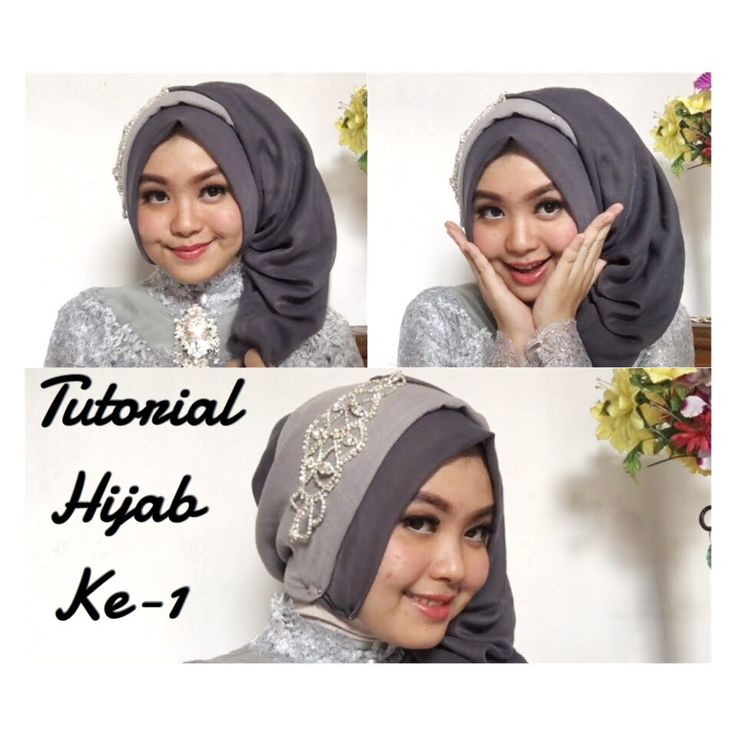 #4 Tutorial Hijab Segi Empat Paris Rawis Wisuda Pesta Kondangan Simple b...