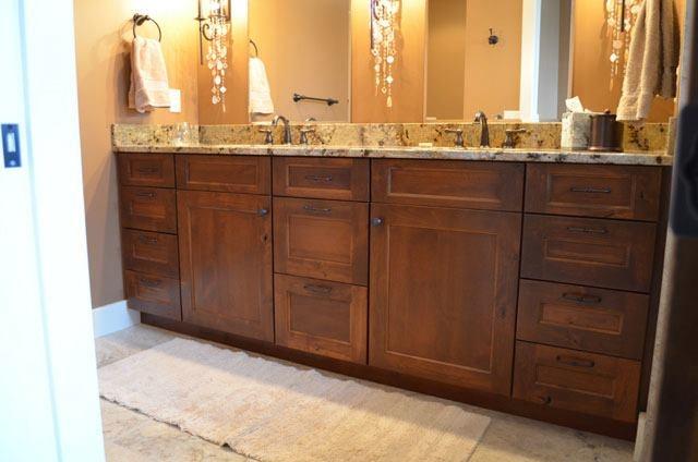 His + Her Sinks= Perfect Custom Bathroom