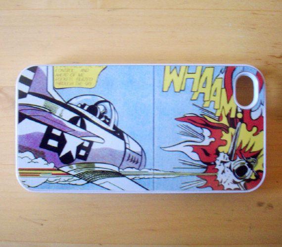 Roy Lichtenstein  Whaam iPhone 4/4S case by GelertDesign on Etsy, £7.00